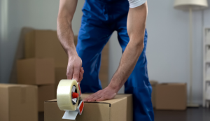 Moving company worker